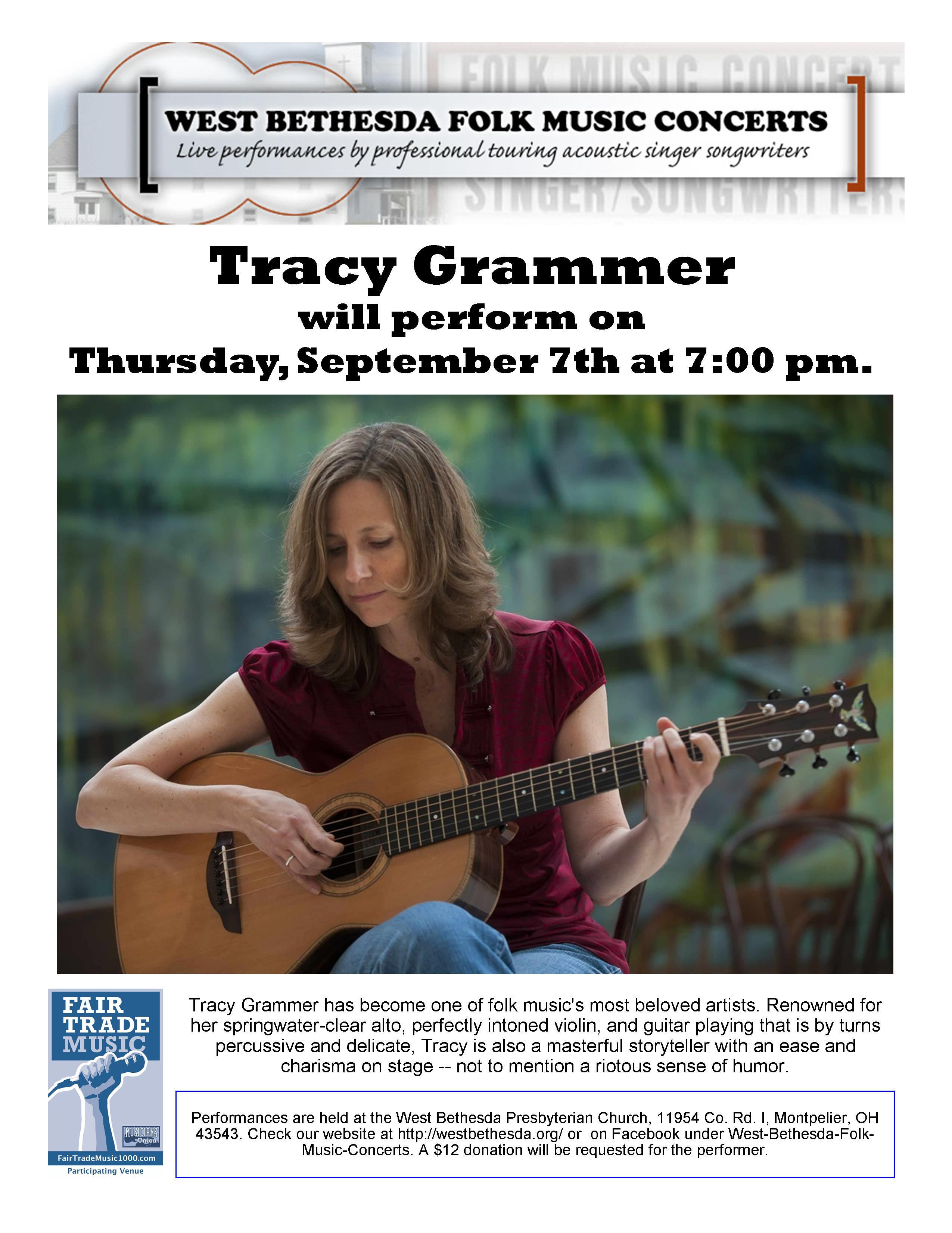 Tracy Grammer – September 7th, 2017 | West Bethesda